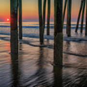 Sunrise Under The Pier Art Print