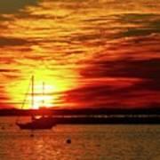 Sun's Up Provincetown Pier 4 Art Print