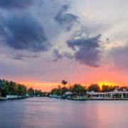 Sunset Across The Gulf Stream Art Print