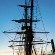Sunset Ahoy Art Print