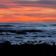 Sunset And Rocks Art Print