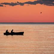 Sunset Anglers Art Print