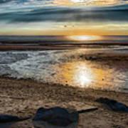 Sunset At Brewster Flats Art Print