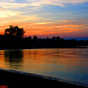 Sunset At Colonial Beach Cove Art Print