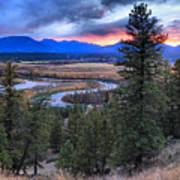 Sunset At Columbia Wetlands Art Print