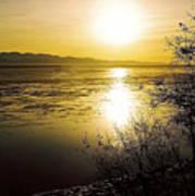 Sunset At Cook Inlet - Alaska Art Print