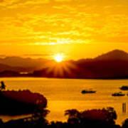 Sunset At Coron Bay Art Print