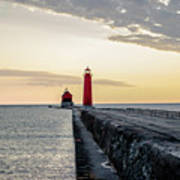 Sunset At Grand Haven Art Print