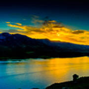 Sunset At Horsetooth Reservoir Art Print by Harry Strharsky