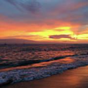 Sunset At Lahaina On Maui, Hawaii Art Print