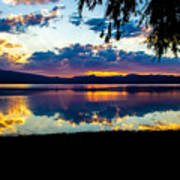 Agency Lake Sunset, Oregon Art Print
