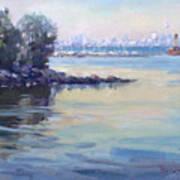 Sunset At Lake Ontario  Art Print