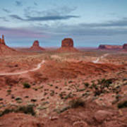 Sunset At Monument Valley No.2 Art Print