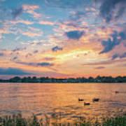 Sunset At Morse Lake Art Print