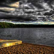 Sunset At Nicks Lake Art Print