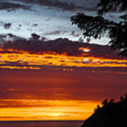 Sunset At Oswald West Art Print
