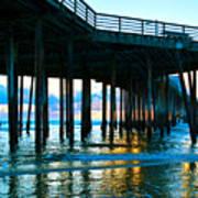 Sunset At Pismo Beach Pier Art Print