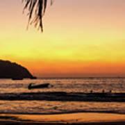 Sunset At Playa La Ropa Art Print
