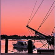 Sunset At Port Art Print