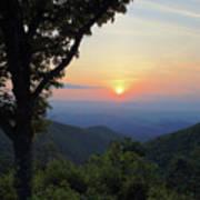 Sunset At Purgatory Mountain Art Print