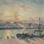 Sunset At Rouen Art Print