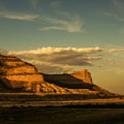 Sunset At Scotts Bluff National Monument Art Print