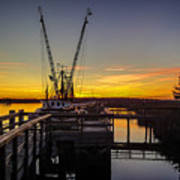 Sunset At Skippers Fish Camp Art Print