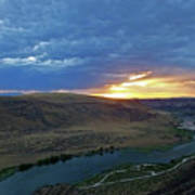 Sunset At Snake River Canyon 1 Art Print