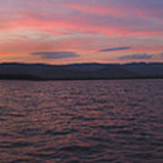 Sunset At Squam Lake New Hampshire Art Print