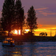 Sunset At Sunset Beach In Vancouver Bc Art Print