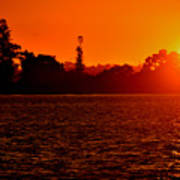Sunset At Swan River II Art Print