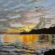 Sunset At The Barracks Art Print