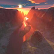 Sunset At The Canyon Art Print