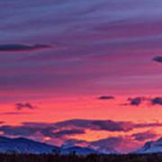 Sunset At The Ranch #2 - Patagonia Art Print