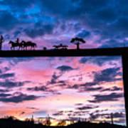 Sunset At The Ranch Art Print