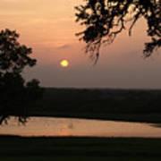 Sunset At The Southern Star Ranch Art Print