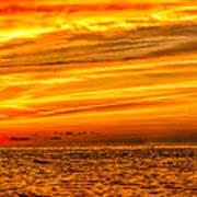 Sunset At The Ss Atlantus - Pano Art Print