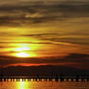 Sunset At Thessaloniki Art Print