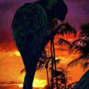 Sunset Beach Art Print