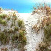 Sunset Beach Dune Path Art Print