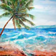 Sunset Beach Hawaii Art Print