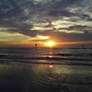 Sunset Beauty At Clearwater Art Print