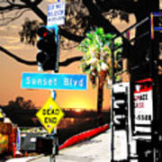 Sunset Blvd Meets Sunset Art Print
