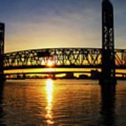 Sunset Bridge 1 Art Print