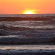 Sunset Cannon Beach Art Print