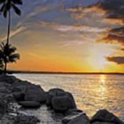 Sunset Caribe Art Print