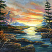 Sunset Creek Art Print