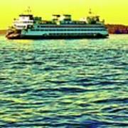 Sunset Cruise On The Ferry Art Print
