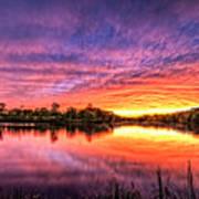 Sunset Culpeper Va Art Print