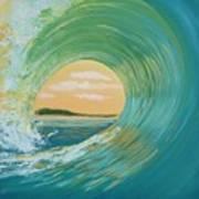 Sunset Curl Art Print